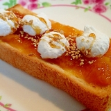 金柑ジャムと焼きメレンゲのトースト