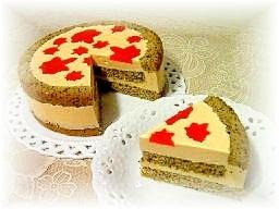 紅葉のレアチーズケーキ