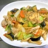 ピリ辛で夏バテ解消!夏野菜と筍とお肉の炒め物