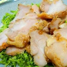 シリコンスチーマーで鶏の蒸し焼き