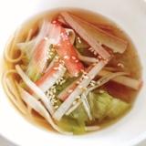 節約・簡単!レタスとカニカマの春雨スープ