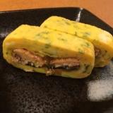 美味☆秋刀魚の蒲焼巻き卵