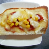 福神漬け&コーンのチーズトースト