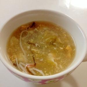 レタスとふわふわ卵のスープ