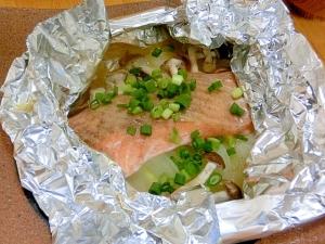 包んで 焼くだけ~。 かんたん鮭のホイル焼き