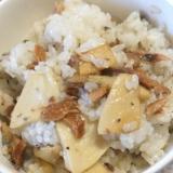 エリンギと秋刀魚蒲焼きの混ぜご飯