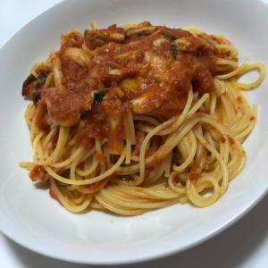 モッツァレラチーズとトマトのパスタ♡