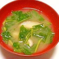 毎日のお味噌汁55杯目*空芯菜と椎茸