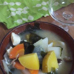 根菜たっぷりのお味噌汁