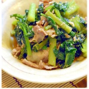 ツルムラサキと豚肉の味噌炒め