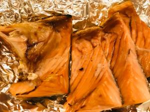 鮭の塩焼き 味付け焼き方