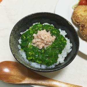 栄養満点!モロヘイヤとツナのねばトロご飯♡