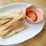 簡単・節約リメイク☆食パンの耳でマヨラーディップ♪