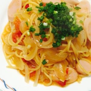 低カロリー☆新玉ねぎとトマトのワンポットパスタ