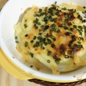 新玉ねぎとお豆腐のチーズ焼き