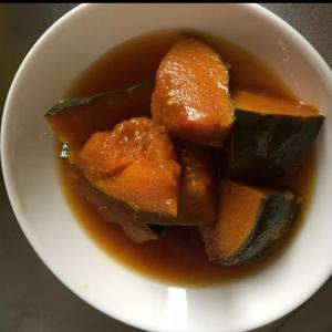 お弁当に、濃いかぼちゃの煮付け