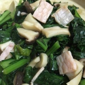 チンゲンサイとエリンギの中華炒め