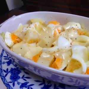 新じゃがとゆで卵のチーズ焼き