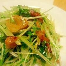 シャキシャキ水菜の☆ガーリックベーコン炒め