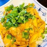 ズッキーニとパクチーのピリ辛サラダ