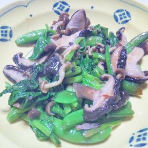 きのことグリーン野菜のオイソ炒め