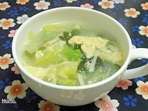 シャキシャキレタスの玉子スープ