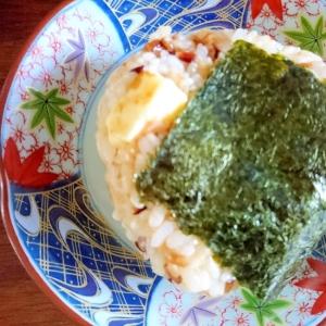 チーズとおかかの発芽玄米おにぎり