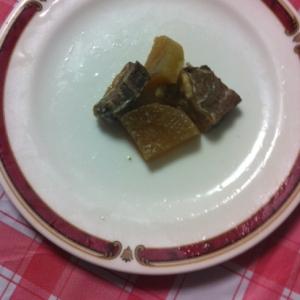 ボリューム満点♬豚かたまり肉&大根の炒め煮