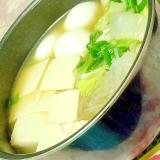 味覇de❤白菜&お葱と豆腐&糸蒟蒻の食べるスープ❤