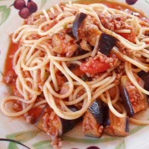 なすのトマト・スパゲティ