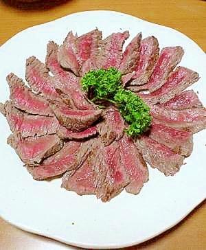 牛肉の味噌漬けタタキ
