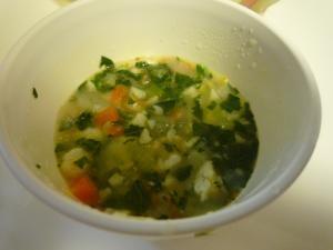 <離乳食>かれいと野菜のコンソメスープ