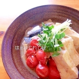 減塩♪鯖と豆腐のトマト味噌煮✿