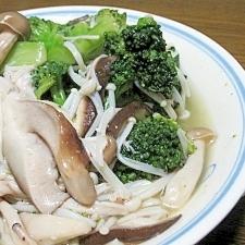 簡単☆タップリきのことブロッコリーの温サラダ