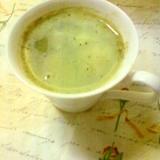 抹茶とホエーがあれば作ってね❤ラテ風抹茶ホエー甘酒