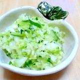 キャベツときゅうりとかいわれ菜の塩麹漬け