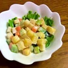 柿と野菜の甘酢漬けサイコロサラダ