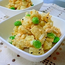 炒り卵と枝豆のポテトサラダ