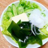 生ワカメと豆腐のさっぱりサラダ