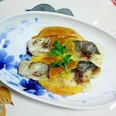 真鱈に卵黄マヨネーズ~♫