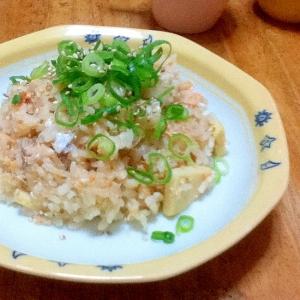 鮭と筍の炊き込みご飯