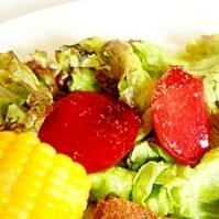 お肌も喜ぶフルーツサラダ、ソルダム・サラダ