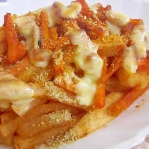 ヘルシー♪大根とにんじんのトマトチーズ焼き
