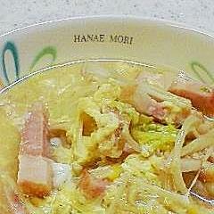 白菜とごろごろベーコンのスープ煮