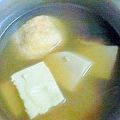 煮物風◎高野豆腐の味噌汁