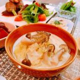 糖質制限☆春キャベツとシメジの和風ミルクスープ