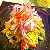 カラフル夏野菜のカボチャサラダ