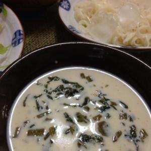 意外と美味しい(^O^)豆乳の大根菜素麺