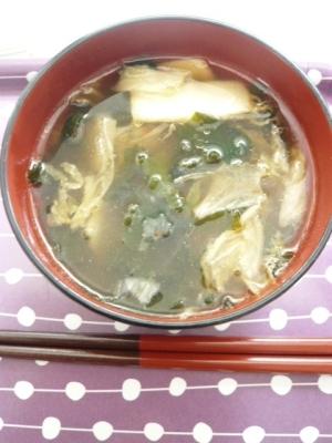 3分でできる韓国風はるさめスープ