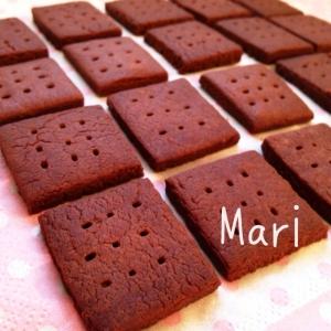 さくさく♡材料③♡袋でモミモミ♡ココアクッキー